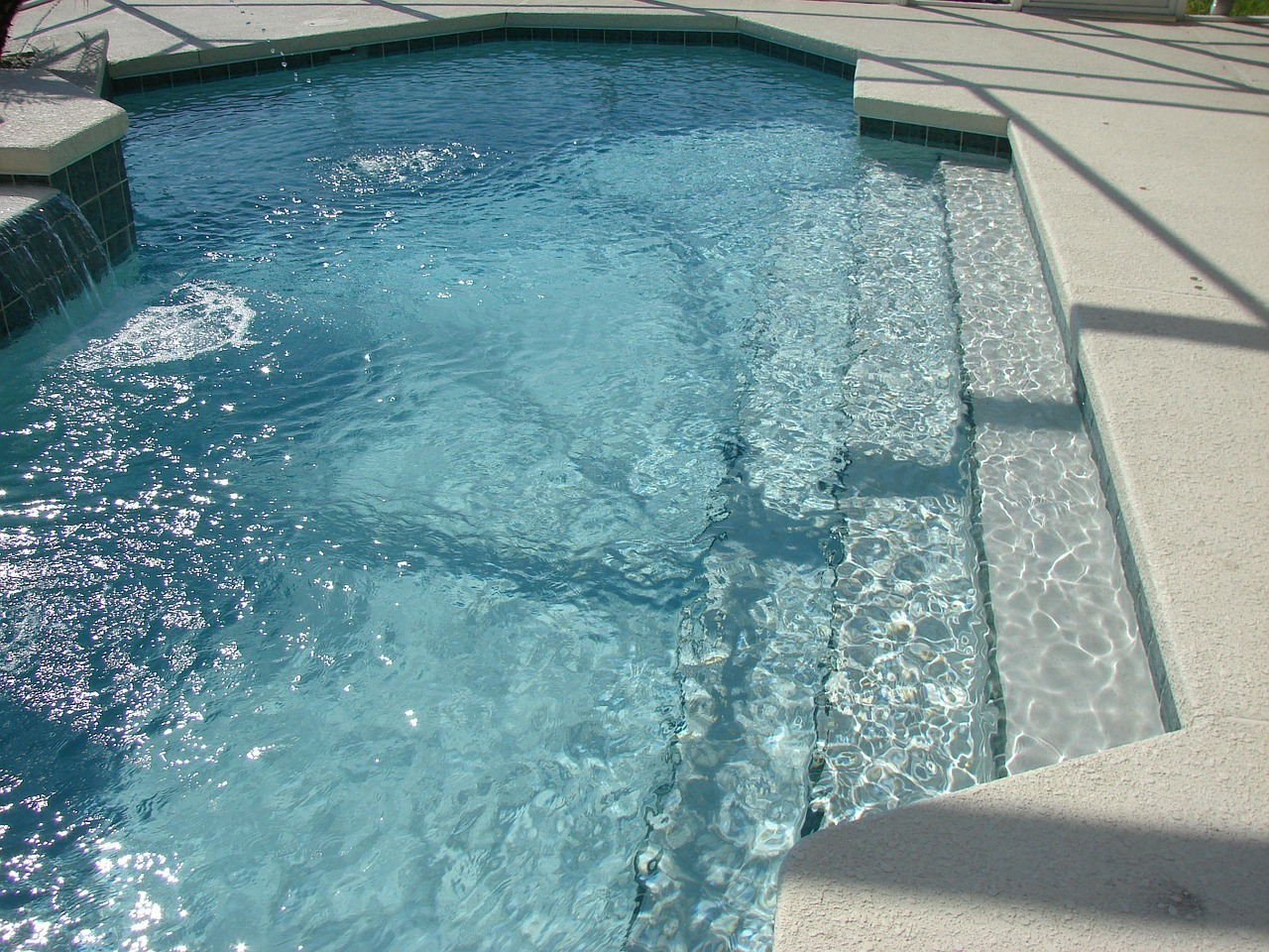 Pool with stairs