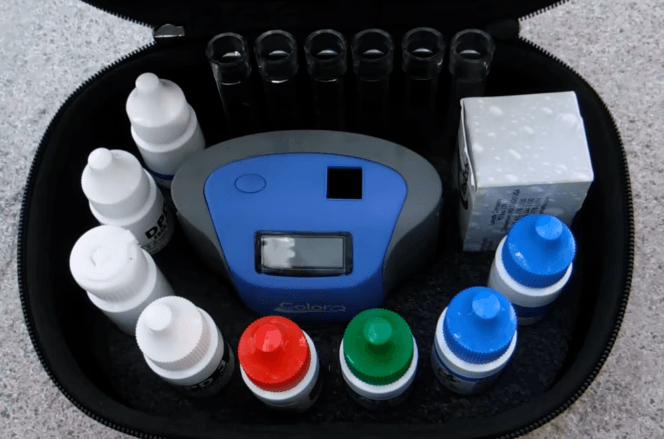 Digital pool water testing kit