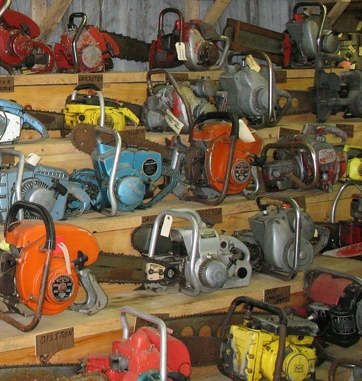 chainsaws storage
