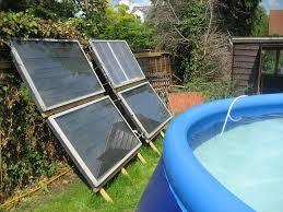 solar panels by the pool