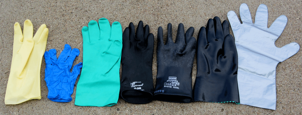 Different types of safety gloves