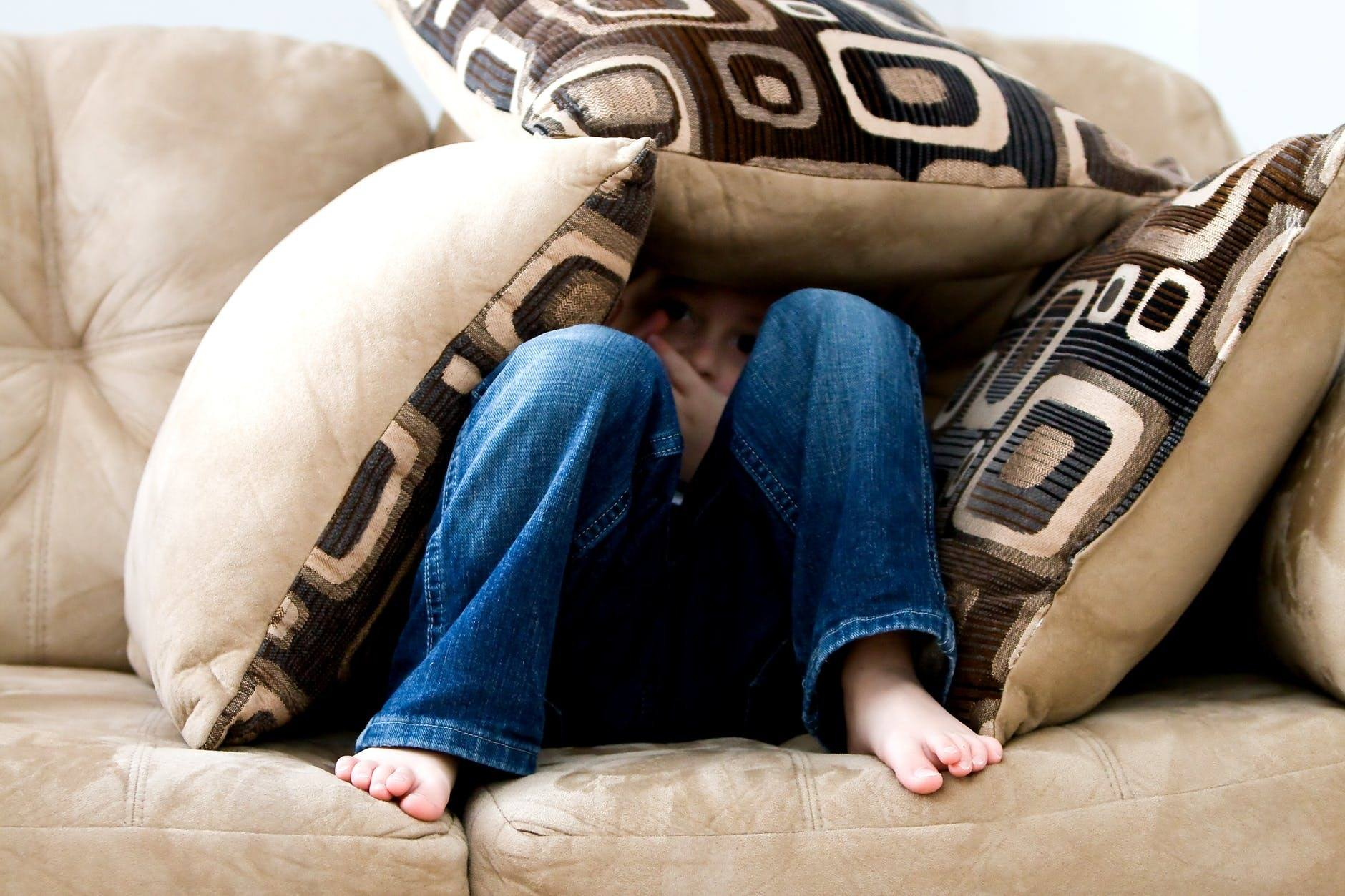 a child on the couch