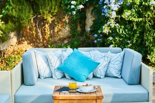 a couch outdoors